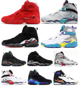 New 8 Valentinstag 8s South Beach Reflective Bugs Bunny Weiß Aqua-Playoff Chrome Countdown Pack-Basketball-Schuh-Mann-Turnschuh mit Kasten