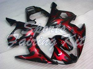 Los kits de carrocería para YZFR6 2003-2005 Negro Red Flame cuerpo completo Kits YZF600 R6 carenados 04 05 03 04 YZFR6