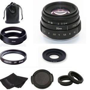 llegar 35mm F1.6 CCTV lente de montaje C + + Hood lente anillo Macro para Canon EOS M M2 M3 M5 M6 M10 Micro sola cámara