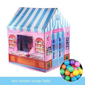 Дети Game House Play Палатка помещении игрушки портативный складной дом на день рождения для детей украшения для спальни