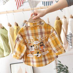 VVDfR garçons à manches longues 2020 Spring tong tong chen shan chen shan Nouvelle chemise à carreaux style coréen des enfants pour le printemps des enfants et des enfants et