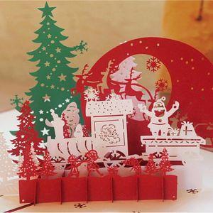 3D Christmas Cards Greeting Handmade Paper Card Personalized Keepsakes Postcards For Xmas Wedding Birthday Decor