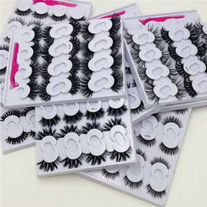 10 pairs 10-25mm Fake Eyelashes Faux 3D Mink Eyelashes Mink Lashes Natural Dramatic Volume Eyelash Extension False Eyelashes