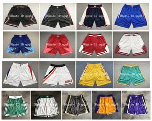De calidad superior! 2019 equipo de baloncesto Shorts Shorts PANTALONCINI da cesta Sport pantalones Pantalones cortos de la universidad de la estrella blanca Negro 100% cosida