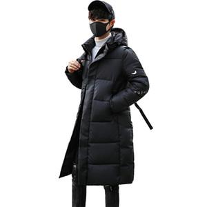 Mens abrigos de invierno de las chaquetas 2020 la moda de Nueva Ropa casual chaquetas capa de los hombres de algodón acolchado Parka capas largas con capucha espesa la ropa