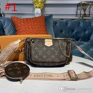 vendita calda tre pezzi multi accessori pochette Portafogli borsa del progettista spalla del fiore in vera pelle L borse crossbody M44840 M44813