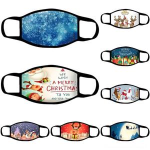 Маски Q0lp0 Хлопка доставки дышащей партии печати украшение Christmas моющийся Мода Xmas маска Рождество XZ Комфортные Дети Ukjdx