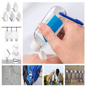 50ML botella vacía de alcohol recargable con el anillo dominante del gancho del metal Botellas de limpieza Gel Hand Sanitizer Protable mini del recorrido botella Paquete D81212