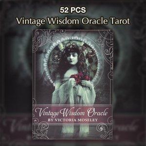 Sagesse Oracle Party Game Anglais Familles Game Card drop ship pour jeu plate-forme Cartes drôles Conseil Tarot table Cartes 52 Vintage yxlzVW