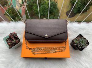 2020 Новый 3-х частный набор Luxurys сумки цепь цепь сумка дизайнеры на плечо Сумка Crossbody Сумка стиль женские сумки и кошельки новый стиль