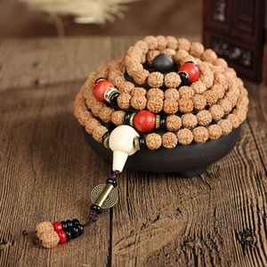 Nepal Bodhi Diamant Runde Buddha-Armband Diamant-Perlen 108 Perlen Armband Boutique Buddha Bodhi F5YUz