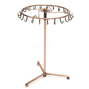 Jewelry Rotating Ring Display Holder Organizer Necklace Stand Rack 23 Hooks MX200810
