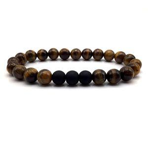 Fashion Bead Bracelet 2020 New Trendy Tiger Eye Bead Bracelet Men Stone Charm Bracelets & Bangles For Men Jewelry Gift