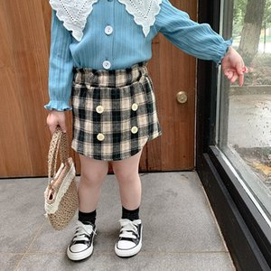 meninas Qualidade New INS Verão Outono crianças calções xadrez New Arrival Meninas Shorts Autumn Cotton designer de moda Meninas Shorts