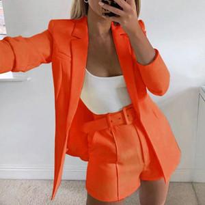 Oeak Two Piece Set Women Suit Sexy Office Lady 2020 Summer Autumn Blazer And Pants Jumpsuit Set Casual Suits Outfits