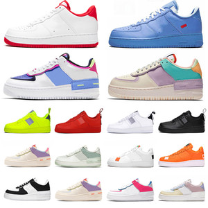 nike AF 1 air force 1 off white Utility Black White Dunk Hombres Mujeres Zapatos casuales red one Sports Skateboard High Low Cut Wheat Entrenadores zapatillas de deporte