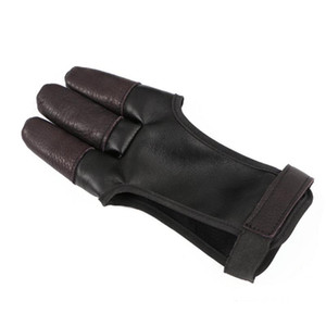 Archery Hand Guard Glove Finger Protector Traditional Shooting Glove Fits for Hunting Traditional Long Bow, Right Left Hand