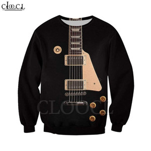 CLOOCL Newest Fashion Playing Guitar 3D Print Harajuku Leisure Sweatshirt Hoodie Zipper Jacket Casual Hip Hop Black Apparel