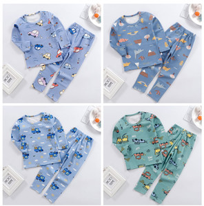 2020 autumn and winter children's pajamas home service new cartoon print long-sleeved boy and girl underwear set
