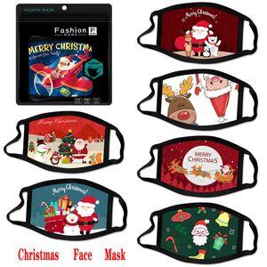 Maschere per il viso di moda di Natale per le maschere del cotone del fumetto del fumetto del fumetto della lavabile del bambino adulto Adulto Adulto Maschere del viso del Babbo Natale