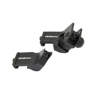 Funpowerland Tactical 45 Grad Offset vorne und hinten Sicherung lron Sight Set schnellen Übergang 20mm Schienen-Gewehr-Anblick