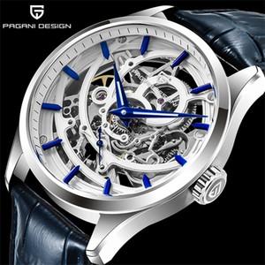 PAGANI diseño de moda de lujo reloj mecánico automático del reloj impermeable 100M Relogio Masculino marca de fábrica superior de cuero reloj de los hombres 0924