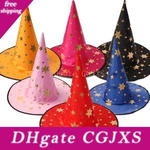 Хэллоуин Hat для детей Witch Wizard Hat Пять -Pointed Star Hat Wizard детей Выполните Сценическо- L211