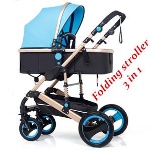 Kinderwagen # Faltender Kinderwagen 3 in 1 Neonatalkutsche Hohe Landschaft Pram Four Seasons BBSorption Auto