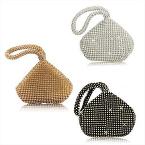 Sacs de soirée de haute qualité en tissu strass femme Triangle Glitter sac à main d'embrayage Sacs de soirée Prom Party