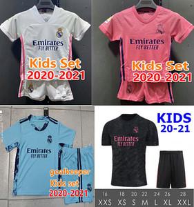 Kids Kit real madrid soccer jerseys 2020 COURTOIS BENZEMA ZIDANE 2021 Child kids set youth shirt HAZARD KROOS MARCELO boys football uniforms