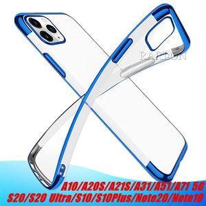 Yumuşak TPU Şeffaf Kılıf Şeffaf Slim Fit Telefon Arka Kapak IPhone 12 11 Pro Max Samsung Galaxy S20 Not 20 Ultra A21S A51, A71, A81 A01 S9