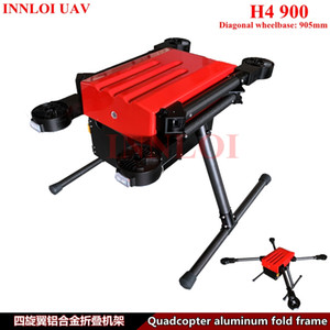 INNLOI Bricolage H4 900mm cadre aluminium double Drone quad copter multi rotor long vol Plate-forme pour commercial / industriel UAV