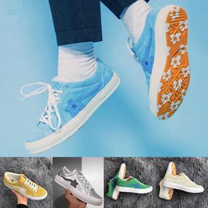 2020Canvas Mens Woemn Дизайнерская обувь Одна звезда Ox Тайлер Повседневной обуви Creator Golf Le Fleur Jade Lime Green Skater тапки WAq2 #