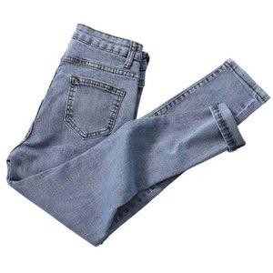 Pantaloni blu CELEB Shijia Donna Denim Jeans a vita alta Vintage matita per la donna 2019 della molla di autunno Jean Femminile Fidanzato Stile CX200815