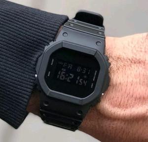 2020 G Style choc Montres cadran carré 5600 armée militaire Horloge numérique Dropship LED caoutchouc étanche Retour Light Sport Mans Montre en gros