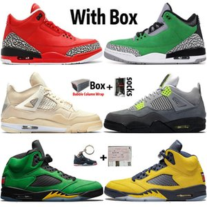 2020 alta OG Jumpman 4 4s Sail Neon Mens tênis de basquete 3 3s Grateful Tinker 5 5s Michigan Air Trainers Retro Sneakers Sports