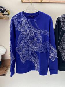 2020 autunno e l'inverno nuove cielo azzurro e nuvole bianche serie spugna maglione girocollo di alta qualità 3D schizzo maglione di design maschile