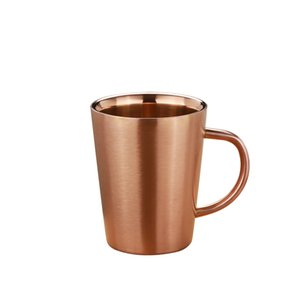 Grade 340ml Stainless Steel Beer Mug Coffee Water Cup with Handgrip Double Wall Drinkware Gold Silver Rose Gold
