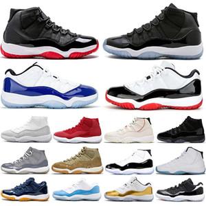Jumpman 11 11s Mens scarpe da basket Maroon Platinum colorazione rosa della pelle di serpente Cool Grey Low bianchi Bred Oro Rosa Donna Uomo Sneakers Sport