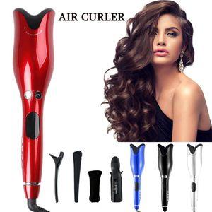 Fer à friser automatique bigoudi cheveux avec Tourmaline Ceramic Heater et LED numérique mini portable Bigoudi Baguette de curling Air