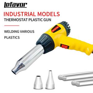 750W pistola de ar quente Heat Gun temperatura ajustável soldagem de tubos de plástico Auto soldagem ferramenta de reparo 100-600 graus