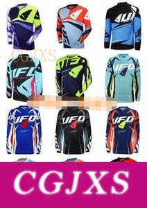 New Custom Ufo Downhill longo -Sleeved T -Shirt equitação Suit Racing Suit Suit Outdoor Sports Off -Estrada Motorcycle