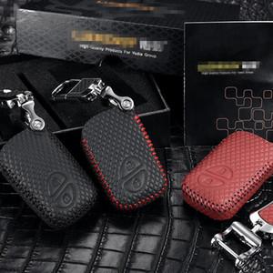 Car Key Bag Top Layer couro 2012-2020 Key Cover OEM para Lexus 2 botão acessórios caso titular CARRO