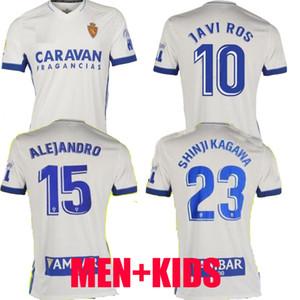 تايلند 20 21 ريال سرقسطة SOCCER JERSEY 2020 2021 شينجي كاغاوا أندريه بيريرا البرتو camisetas دي فوتبول رجل أطفال SET قمصان كرة القدم