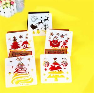 Hot Arts Crafts Weihnachten Weihnachtsmann-Ren-Schnee-DIY Layering Stencils Malerei Scrapbook Coloring Embossing Dekorative Vorlage