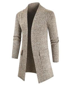 Mens Winter Coat Fashion Natural Color Cardigan Wool Coat Casual V-Neck Long Sweater Coat Men S Clothing