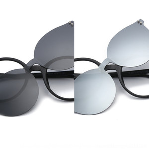 2019 polarized one-piece New sun Myopia men's and women's frame myopia glasses TR dual-purpose magnetic suction set glasses GjvGL