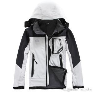 Hot 2019 Classic NF hombres de la marca es equipoen capucha Polartec caparazón blando del Norte chaqueta a prueba de viento de invierno de deportes masculino transpirable impermeable cara C