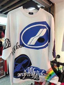 We11done 3D espuma Impresión Gran camiseta de los hombres de las mujeres de alta calidad de Welldone manga corta camisetas 7VQE #