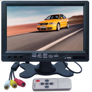 """HD 7"""" inch TFT LCD Car Monitor Rear View CCTV Monitor Display with 2 Channels Video Input for DVD VCD Reversing Camera"""